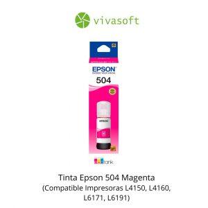Botella Tinta Epson 504 Magenta 65ML En Caja impresora bogota