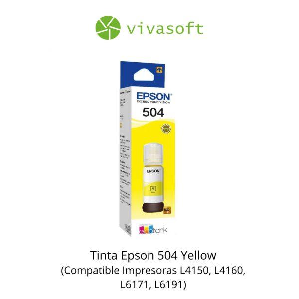 Botella Tinta Epson 504 Yellow 65ML En Caja bogota impresora
