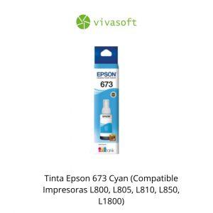 En Bogota Botella Tinta Epson 673 Cyan 70ML En Caja para impresora