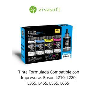 En bogota Combo Tinta Anditerrame #504 – #544 X4 Colores Adicional Tinta Negra 135ML para impresora